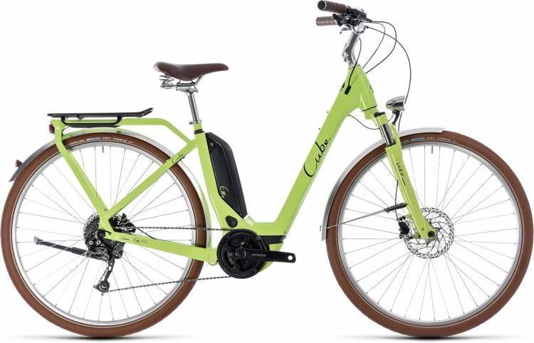 Cube Elly Ride Hybrid 400 green n black 2018 - Tiefeinsteiger Retro E-Bike Trekkingrad