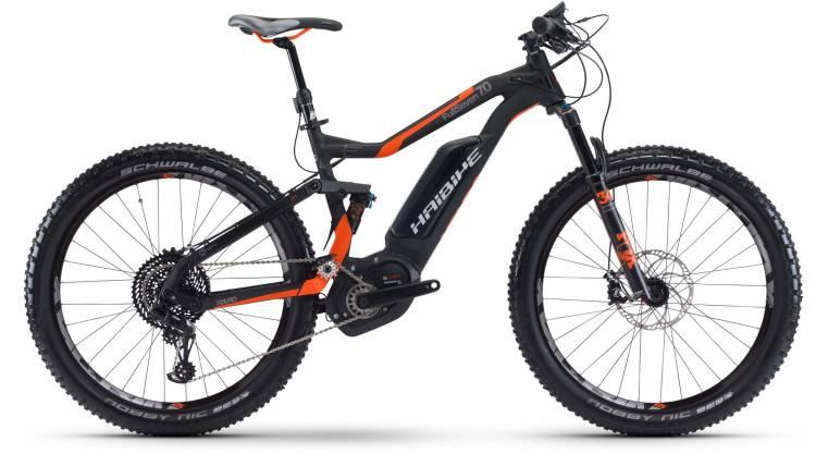 Haibike XDURO FullSeven 7.0 500Wh schwarz/rot/anthr. matt 2017