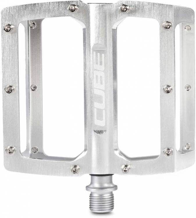 Cube Pedale ALL MOUNTAIN silver brushed