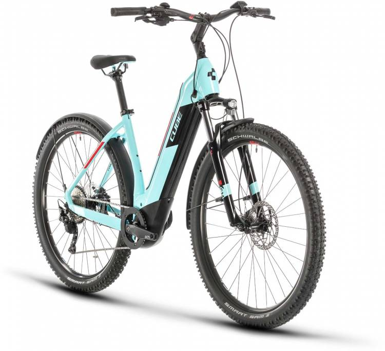 Cube Nuride Hybrid Pro 500 Allroad glacierblue n red 2020 - E-Bike Hardtail Mountainbike