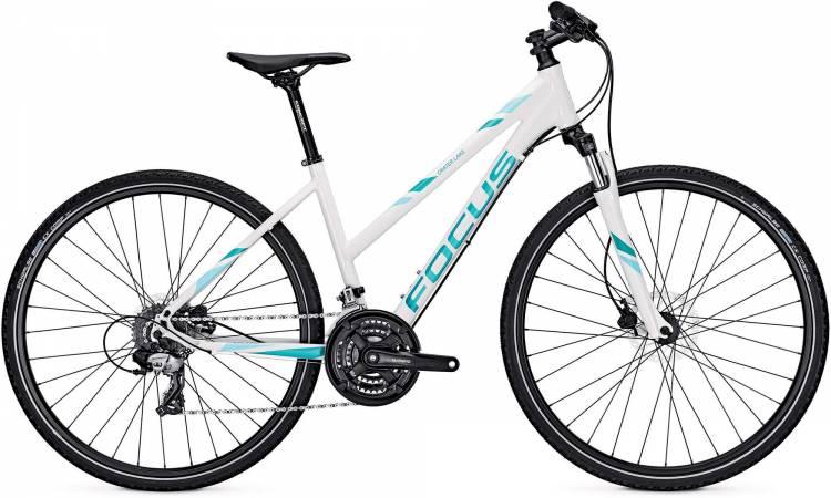 Focus Crater Lake Evo white 2017 - Damen Trapez Crossrad