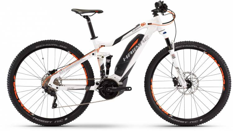 Haibike SDURO FullNine 6.0 500Wh weiß/anthrazit/orange 2017 - E-Bike Fully Mountainbike