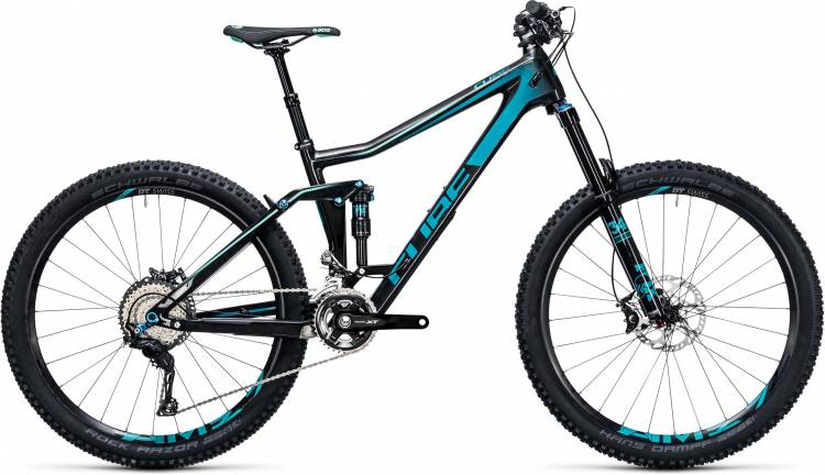 Cube Stereo 160 C:62 Race 27.5 carbon n blue 2017 - Fully Mountainbike