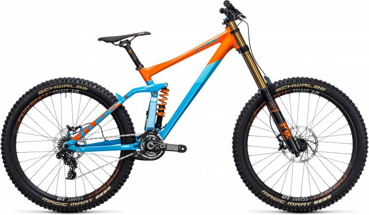 cube two15 hpa sl 27 5 blue orange fully mountainbike. Black Bedroom Furniture Sets. Home Design Ideas
