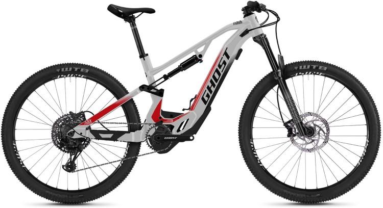 Ghost Hybride ASX Base 130 silver / black / red 2021 - E-Bike Fully Mountainbike