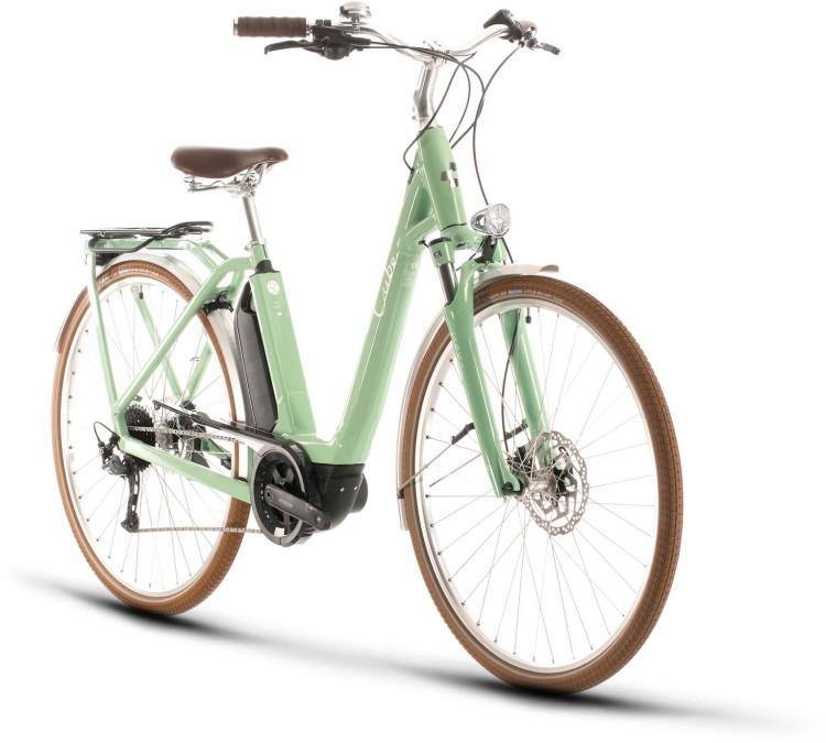 Cube Ella Ride Hybrid 500 green n white 2020 - E-Bike Trekkingrad Tiefeinsteiger