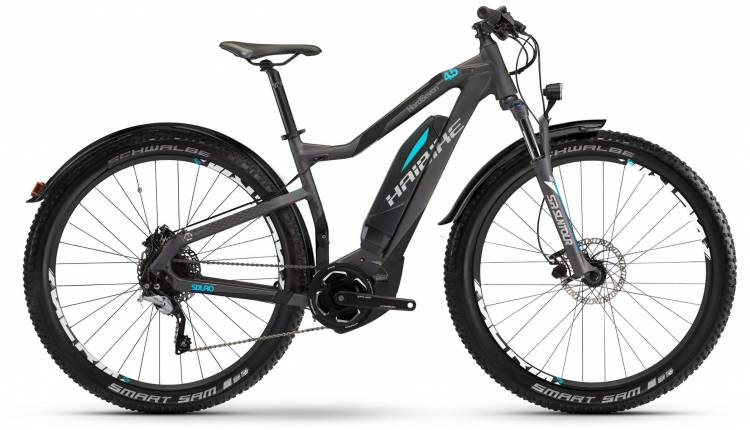 Haibike SDURO HardSeven Street 4.5 400Wh titan/schwarz/cyan matt 2017 - E-Bike Hardtail Mountainbike