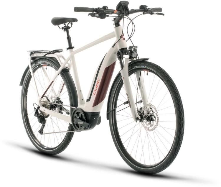 Cube Touring Hybrid Pro 500 grey n red 2020 - E-Bike Trekkingrad Herren