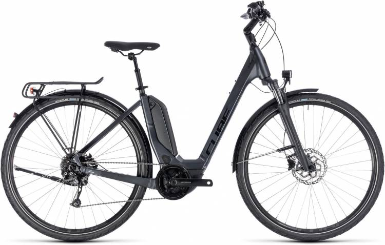 Cube Touring Hybrid ONE 400 iridium n black 2018 - Tiefeinsteiger E-Bike Trekkingrad