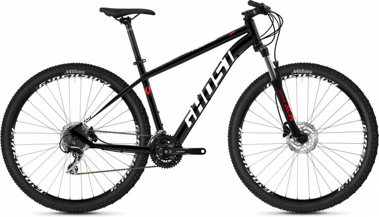 Ghost Kato 3.9 AL U jet black / star white / fiery red 2020 - Hardtail Mountainbike - Lackschaden