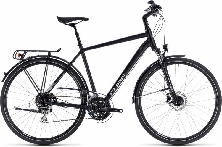 Cube Touring ONE black n grey 2018 - Herren Trekkingrad