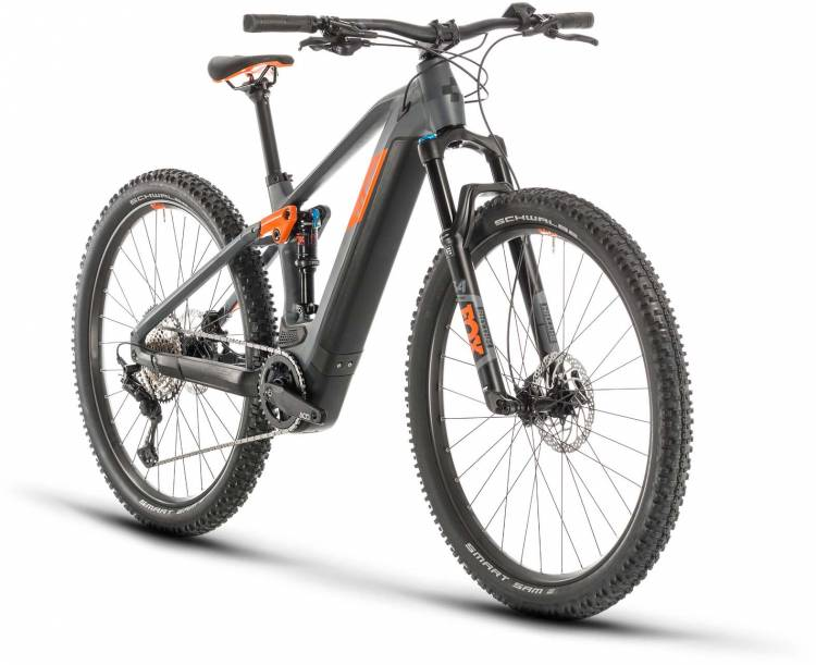 Cube Stereo Hybrid 120 Race 625 29 grey n orange 2020 - E-Bike Fully Mountainbike