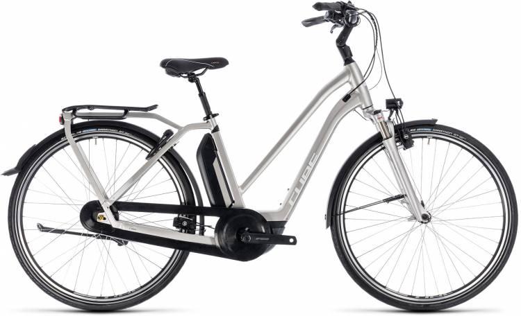 Cube Town Hybrid EXC 500 silver n white 2018 - Damen Trapez E-Bike Trekkingrad