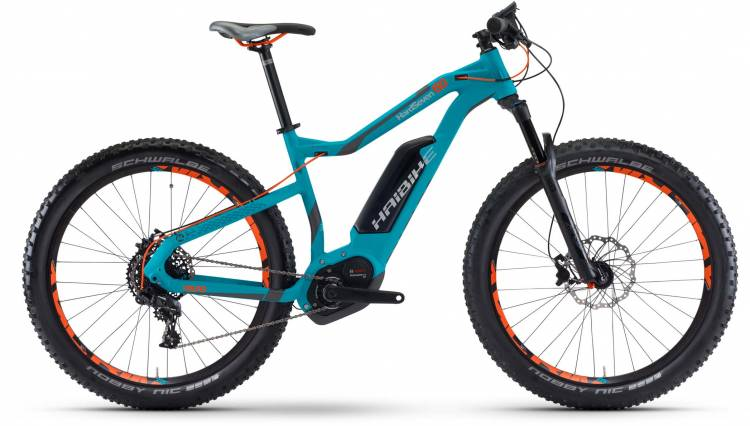 Haibike XDURO HardSeven 6.0 500Wh cyan/anthr./orange matt 2017 - E-Bike Hardtail Mountainbike