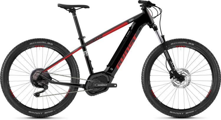 Ghost Hybride Teru PT B3.7+ AL U jet black / riot red / urban grey 2020 - E-Bike Hardtail Mountainbi