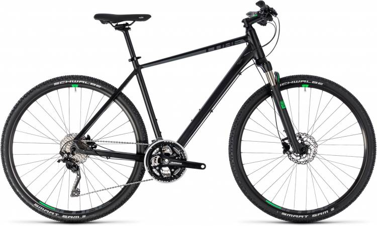 Cube Cross black n green 2018 - Herren Crossrad