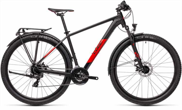 Cube Aim Allroad black n red 2021 - Hardtail Mountainbike