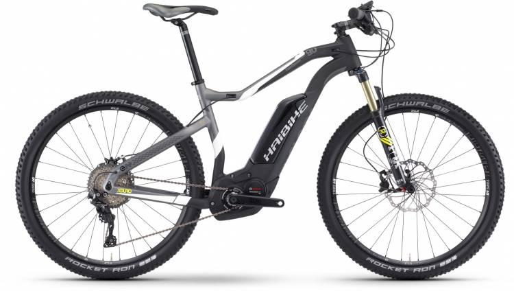 Haibike XDURO HardSeven Carbon 9.0 500Wh carbon/weiß/lime matt 2017 - E-Bike Hardtail Mountainbike