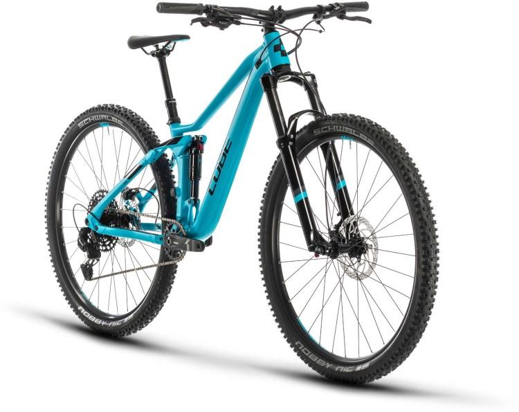 Cube Sting WS 120 EXC turquoise n black 2020 - Fully Mountainbike Damen