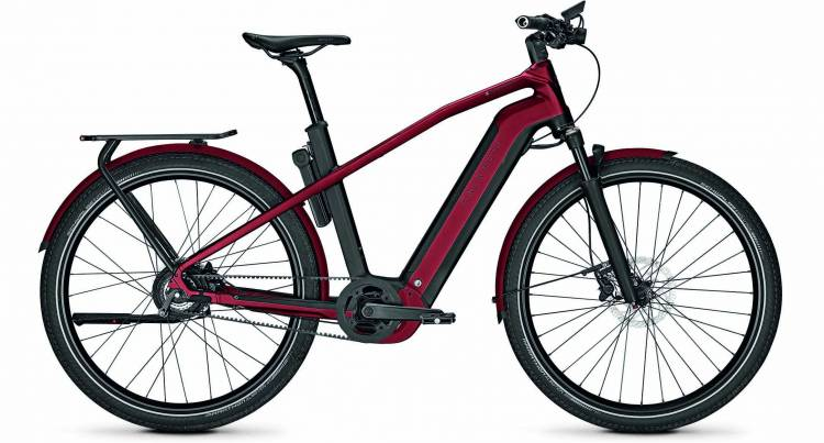 Kalkhoff Endeavour 7.B Belt magicblack/winered matt (Diamond) 2020 - E-Bike Trekkingrad Herren