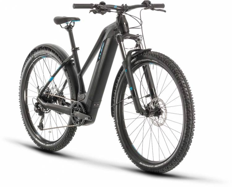 Cube Reaction Hybrid EX 500 Allroad 29 black n blue 2020 - E-Bike Hardtail Mountainbike Damen
