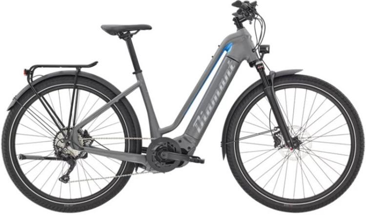 Diamant Zouma Deluxe+ TIE Graphitgrau 2021 - E-Bike Trekkingrad Tiefeinsteiger