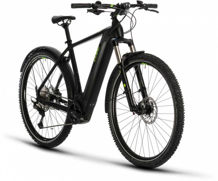 Cube Cross Hybrid Race 500 Allroad black n green 2020 - E-Bike Crossrad Herren