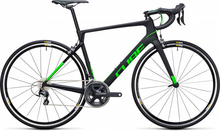Cube Agree C:62 Pro carbon n flashgreen 2017 - Herren Carbon Rennrad