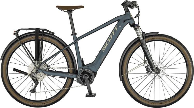 Scott Axis eRIDE 20 Men grey petrol blue 2021 - E-Bike Trekkingrad Herren