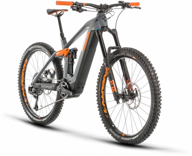 Cube Stereo Hybrid 160 HPC TM 625 27.5 grey n orange 2020 - E-Bike Fully Mountainbike