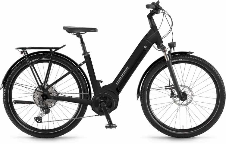 Winora Yucatan 12Pro i630Wh schwarz matt 2021 - E-Bike Trekkingrad Tiefeinsteiger