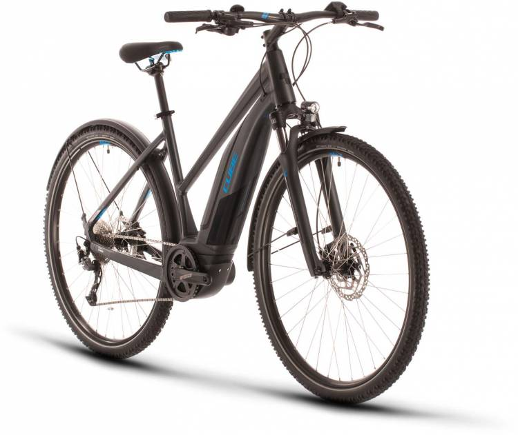 Cube Nature Hybrid ONE 400 Allroad iridium n blue 2020 - E-Bike Crossrad Damen