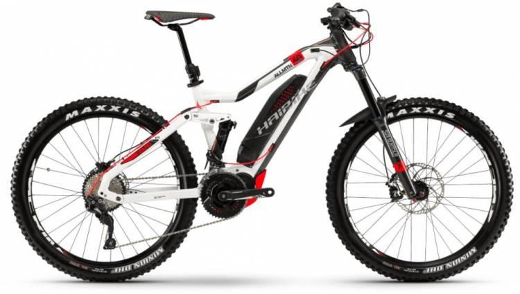 Haibike XDURO AllMtn 6.0 500Wh weiß/anthrazit/rot 2018 - E-Bike Fully Mountainbike