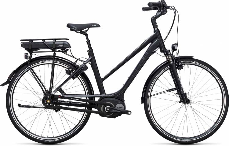 Cube Travel Hybrid 400 black n white Damen Trapez 2017
