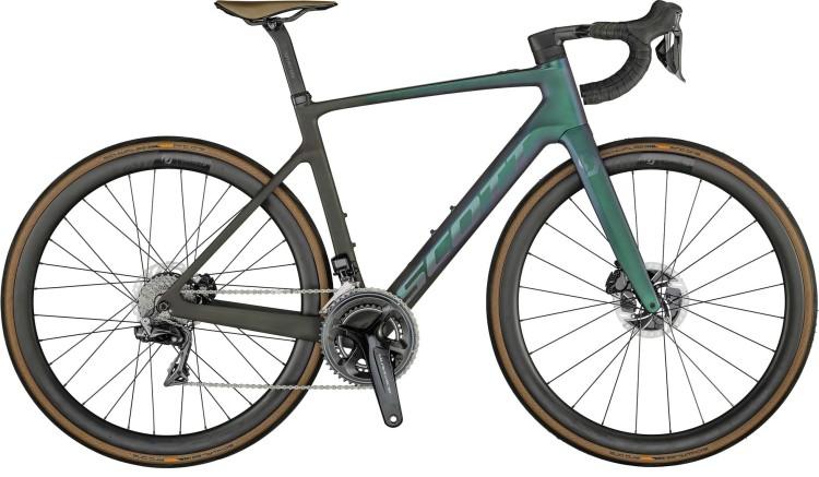Scott Addict eRIDE Premium carbon raw / lazer black 2021 - E-Bike Rennrad