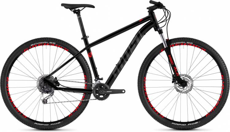 Ghost Kato 5.9 AL U night black / titanium gray / riot red 2020 - Hardtail Mountainbike