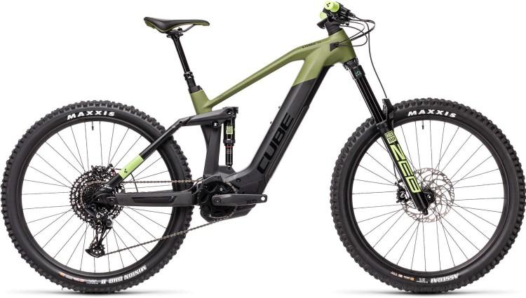 Cube Stereo Hybrid 160 HPC SL 625 27.5 olive n black 2021 - E-Bike Fully Mountainbike
