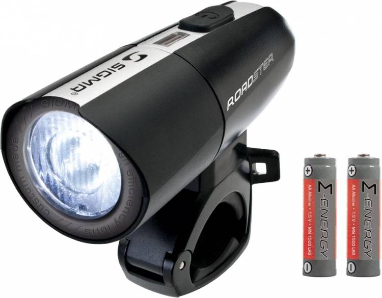 Sigma Roadster LED Frontleuchte inkl. 2x AA Batterien