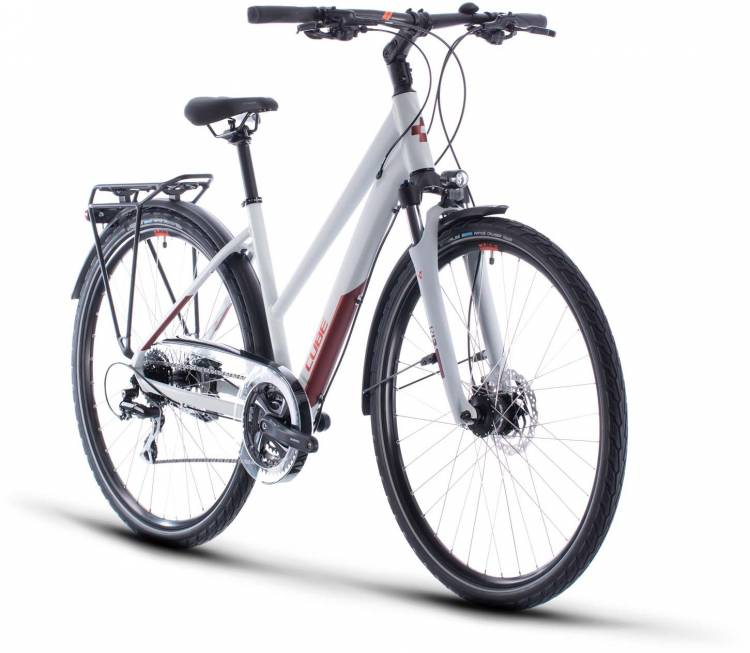Cube Touring Pro grey n orange 2020 - Trekkingrad Damen