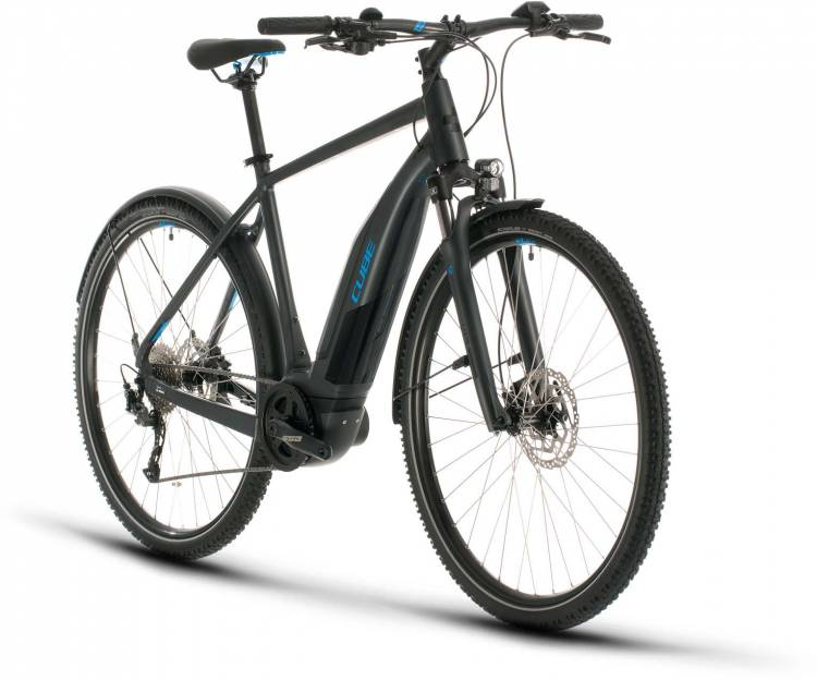 Cube Nature Hybrid ONE 500 Allroad iridium n blue 2020 - E-Bike Crossrad Herren