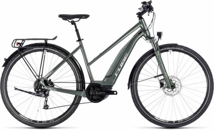 Cube Touring Hybrid ONE 400 frostgreen n silver 2018 - Damen Trapez E-Bike Trekkingrad