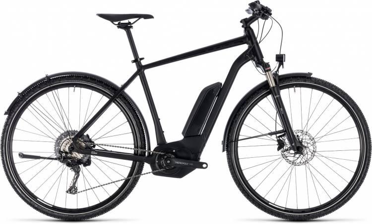 Cube Cross Hybrid Race Allroad 500 black n white 2018 - Herren E-Bike Crossrad