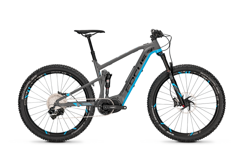 Focus Jam2 Pro 27 Plus grey/blue 2017 - E-Bike Fully Mountainbike