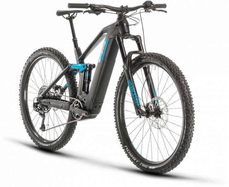 Cube Stereo Hybrid 140 HPC Race 625 29 black n blue 2020 - E-Bike Fully Mountainbike