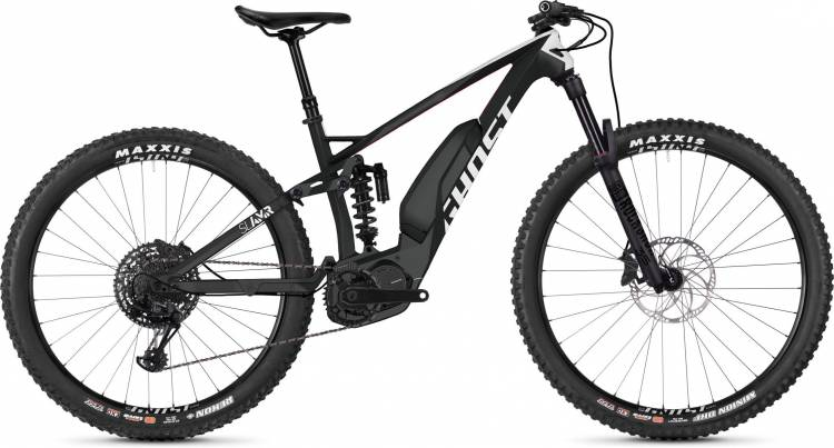 Ghost Hybride SLAMR S4.7+ LC titanium gray / star white / riot red 2020 - E-Bike Fully Mountainbike