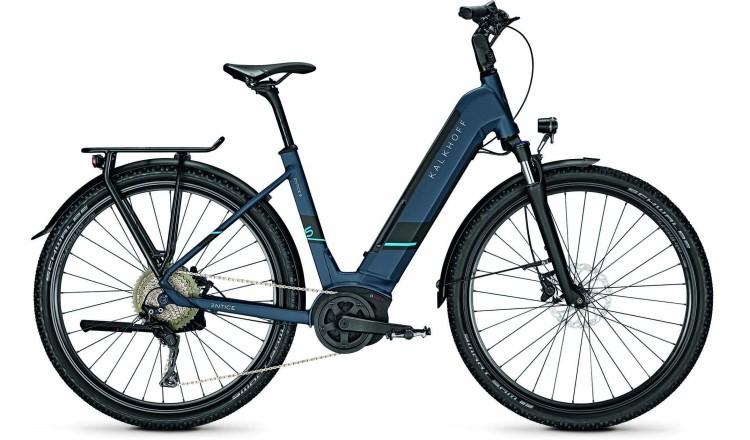 Kalkhoff Entice 5.B XXL deepskyblue matt (Wave) 2020 - E-Bike Trekkingrad Tiefeinsteiger