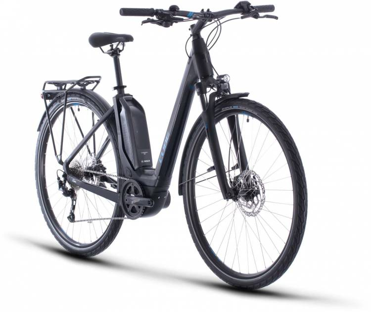 Cube Touring Hybrid ONE 400 black n blue 2020 - E-Bike Trekkingrad Tiefeinsteiger