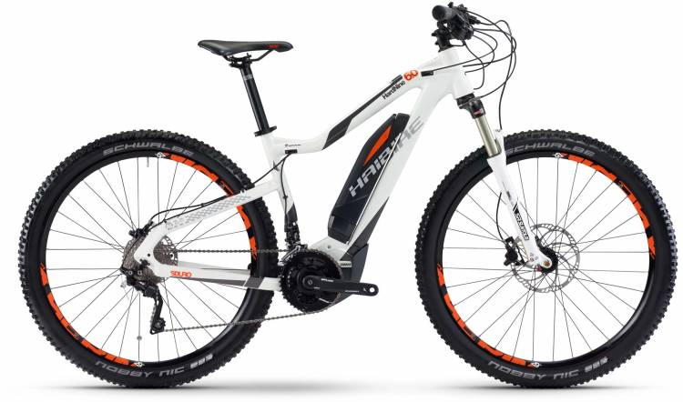 Haibike SDURO HardNine 6.0 500Wh weiß/anthrazit/orange 2017 - E-Bike Hardtail Mountainbike