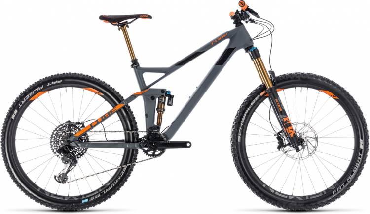 Cube Stereo 140 HPC TM 27.5 grey n orange 2018 - Fully Mountainbike