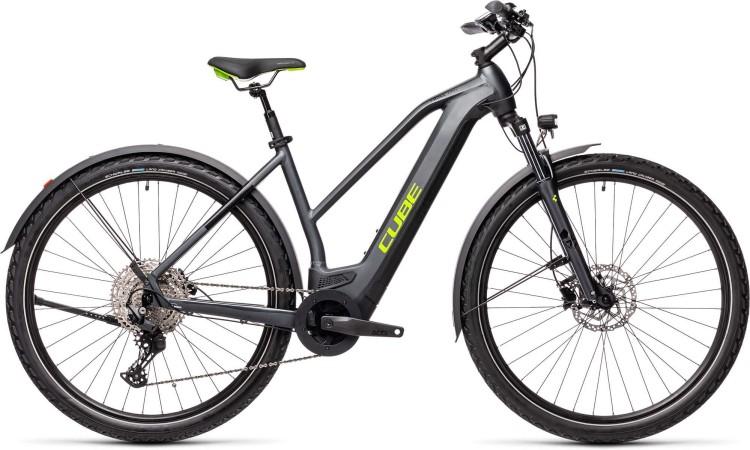 Cube Cross Hybrid Pro 625 Allroad iridium n green 2021 - E-Bike Crossrad Damen